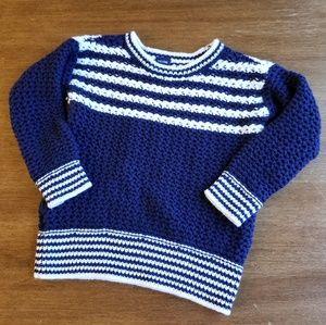 Baby Gap 100% cotton navy & white sweater
